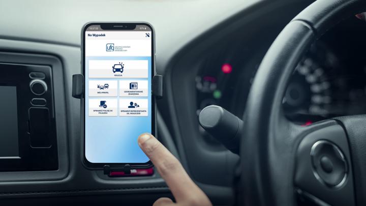 Jak działa aplikacja mobilna UFG Na wypadek – pomoc dla kierowców